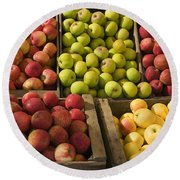 Apple Harvest Round Beach Towel