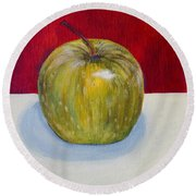 Apple Study Round Beach Towel