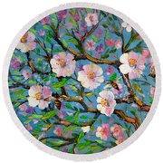 Apple Tree Blossom Round Beach Towel