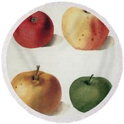 Apples Round Beach Towel