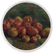 Apples Paris, September - October 1887 Vincent Van Gogh 1853 - 1890 Round Beach Towel
