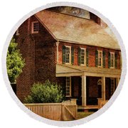 Appomattox Court House By Liane Wright Round Beach Towel