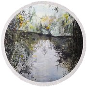 Approaching Dusk Round Beach Towel