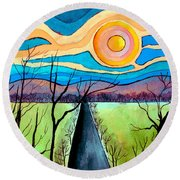 Approaching Lossarnach Round Beach Towel