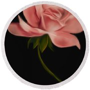 Apricot Beauty Rose Round Beach Towel