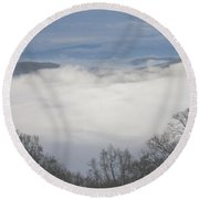 April Appalachian Overlook Round Beach Towel