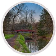 April In Washingtons Crossing Round Beach Towel