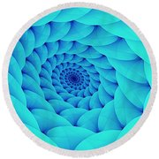 Aqua Pillow Vortex Round Beach Towel