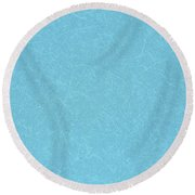 Aquamarine Background  Round Beach Towel