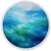 Aquatic Healing Overture  Round Beach Towel