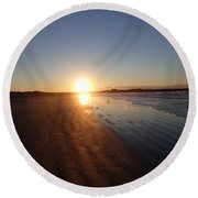 Aquidneck Sunrise 4 Round Beach Towel