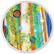 Arabesque  Round Beach Towel