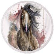 Arabian Horse 2013 10 15 Round Beach Towel