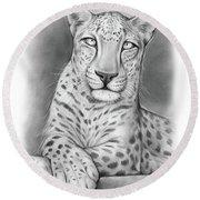 Arabian Leopard Round Beach Towel
