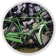 Aran Islands, Co Galway, Ireland Bicycle Round Beach Towel