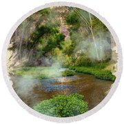 Aravaipa Creek Round Beach Towel