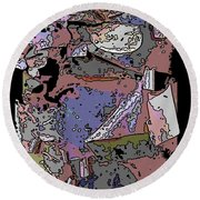 Arbor Abstract 2 Round Beach Towel