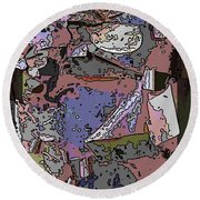 Arbor Abstract 3 Round Beach Towel
