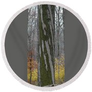 Arboreal Design Round Beach Towel
