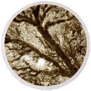 Arboreal Plateau 2 Round Beach Towel