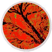 Arboreal Plateau 8 Round Beach Towel