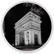 Arc De Triomphe Paris, France  Round Beach Towel