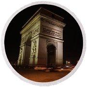 Arc Du Triomphe Paris Round Beach Towel