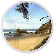 Arcadia Beach Round Beach Towel