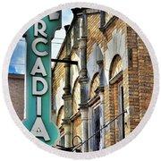 Arcadia Theater Round Beach Towel