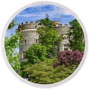 Arcadia University Castle - Glenside Pennsylvania Round Beach Towel