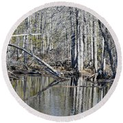 Arch And Reflections Round Beach Towel