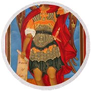 Arch Angel - St Michael Round Beach Towel by Bill Cannon