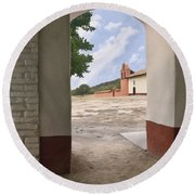 Arch At La Purisima Round Beach Towel