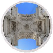 Arch-itecture Round Beach Towel