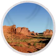 Arch National Park Round Beach Towel