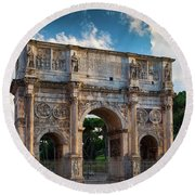 Arch Of Constantine Round Beach Towel