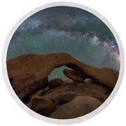 Arch Rock Milky Way  Round Beach Towel