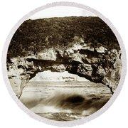 Arch Rock, Santa Cruz, California Circa 1900 Round Beach Towel