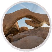 Arch Rock Sunrise Round Beach Towel