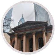 Arch Street Presbyterian Church - Philadelphia Round Beach Towel