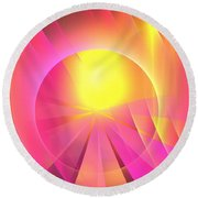 Archangel Chamuel Round Beach Towel