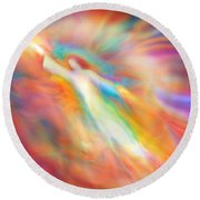 Archangel Jophiel Illuminating The Ethers Round Beach Towel