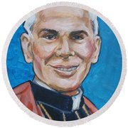 Archbishop Fulton J. Sheen Round Beach Towel