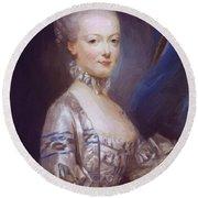 Archduchess Maria Antonia Of Austria 1769 Round Beach Towel