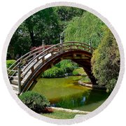 Arched Bridge Round Beach Towel