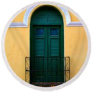 Arched Doorway Round Beach Towel by Perry Webster