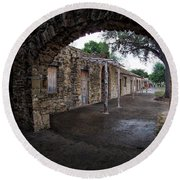 Arched View Round Beach Towel