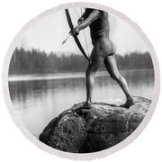 Archery: Nootka Indian Round Beach Towel