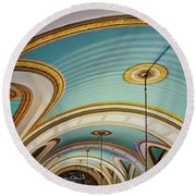Arches And Curves - Capitol Building - Missouri Round Beach Towel
