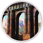 Arches Round Beach Towel